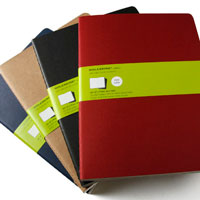 Moleskine Cahier Extra Large Plain Notebooks