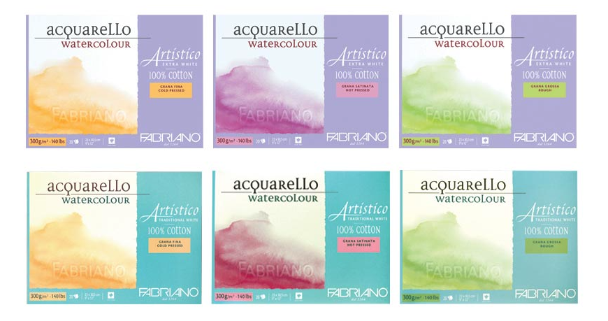 Fabriano Artistico Watercolor Blocks & Pads