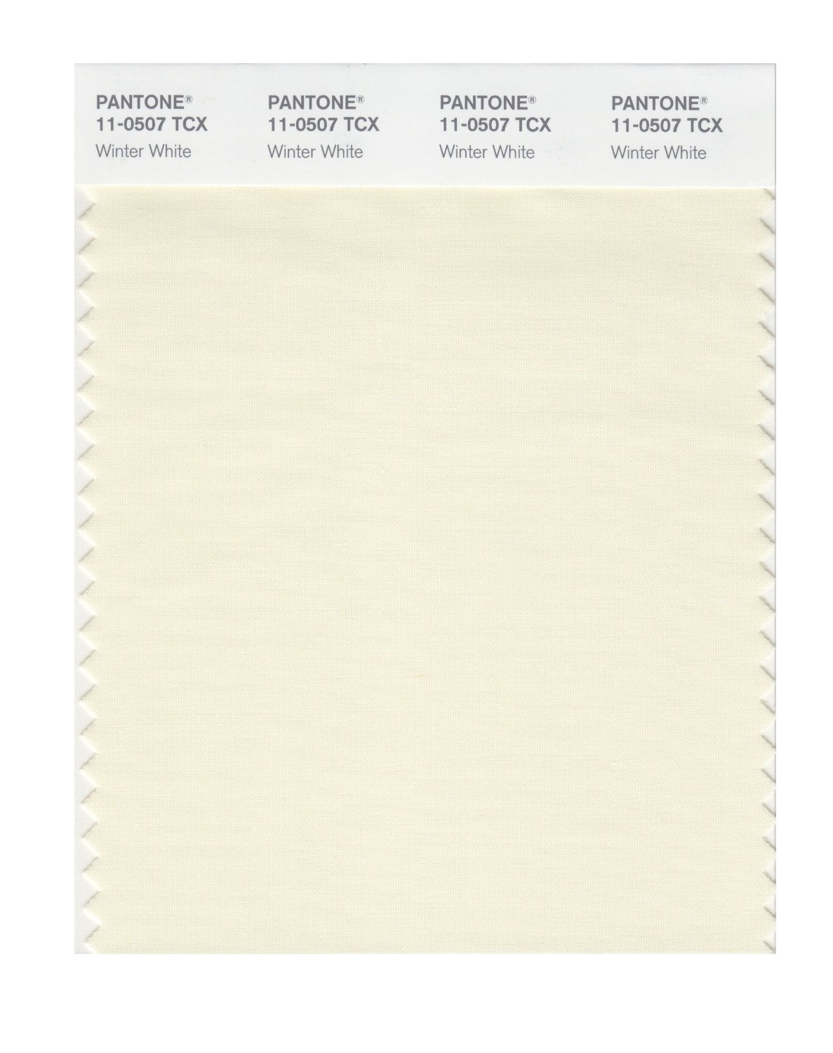 Pantone Smart Swatch 11-0507 Winter White