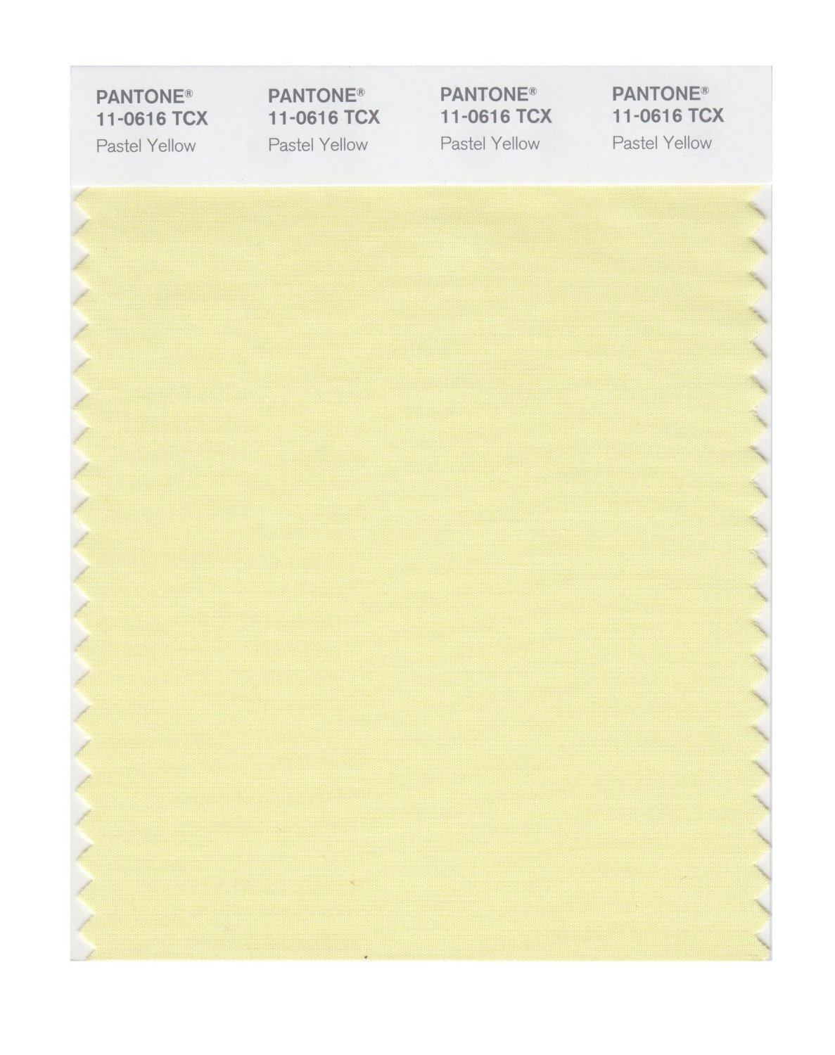 Pantone Smart Swatch 11-0616 Pastel Yellow