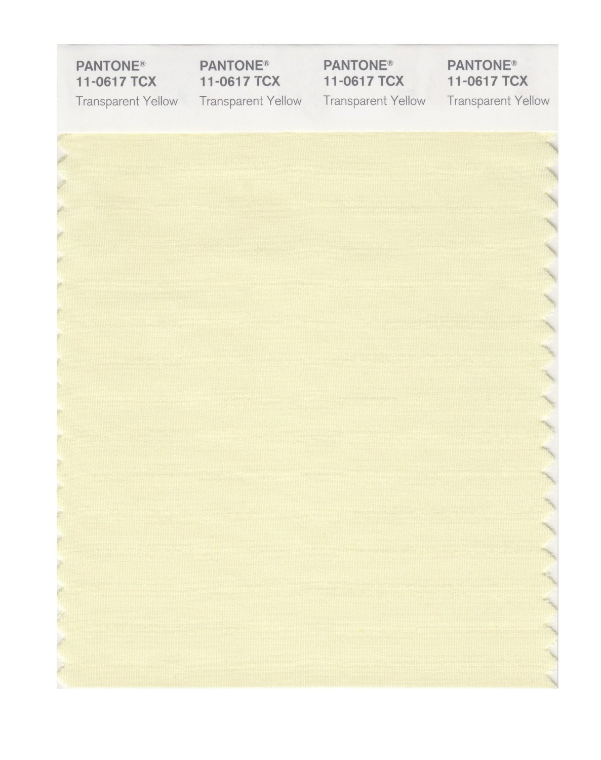 Pantone Smart Swatch 11-0617 Trans Yellow