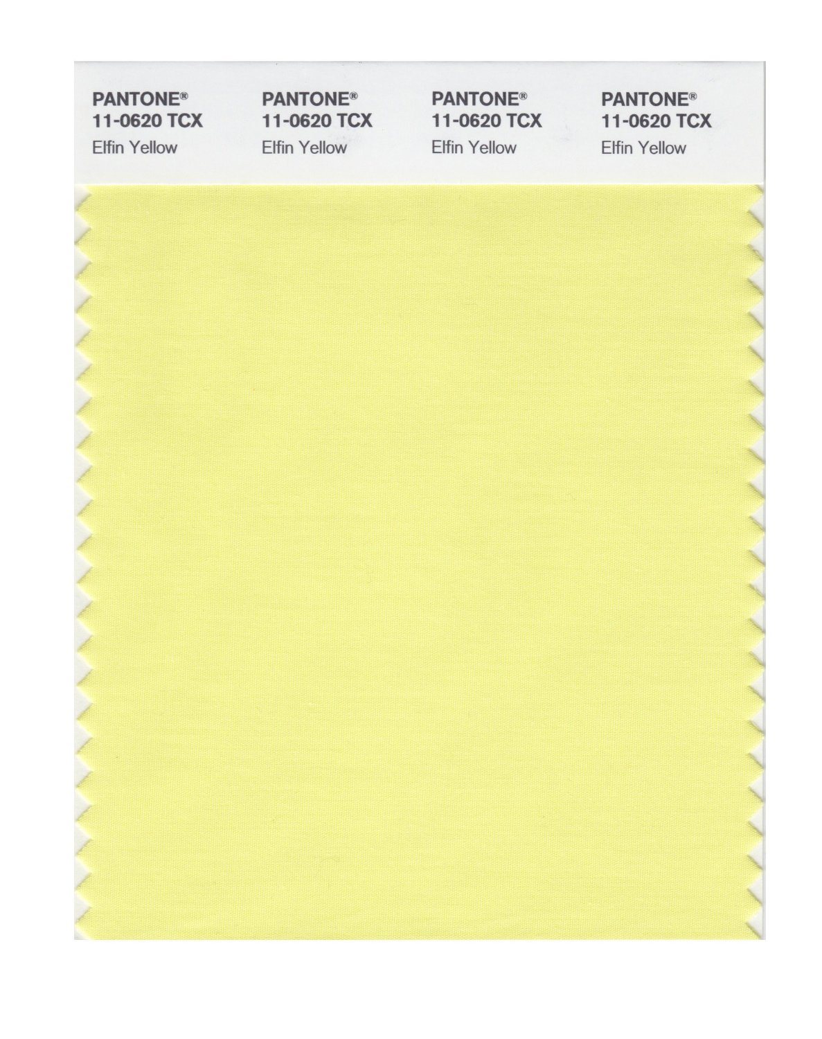Pantone Smart Swatch 11-0620 Elfin Yellow