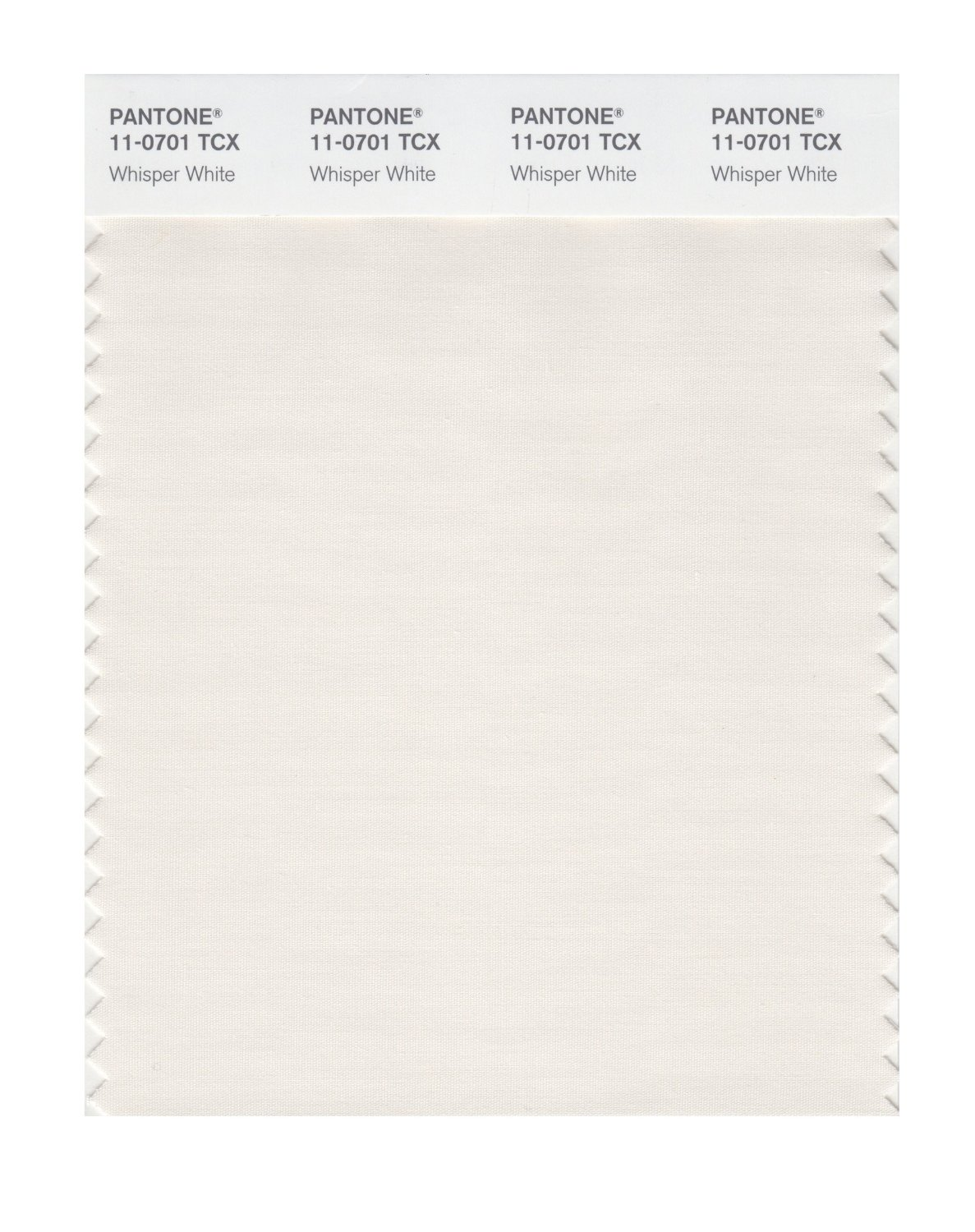 Pantone Smart Swatch 11-0701 Whisper White