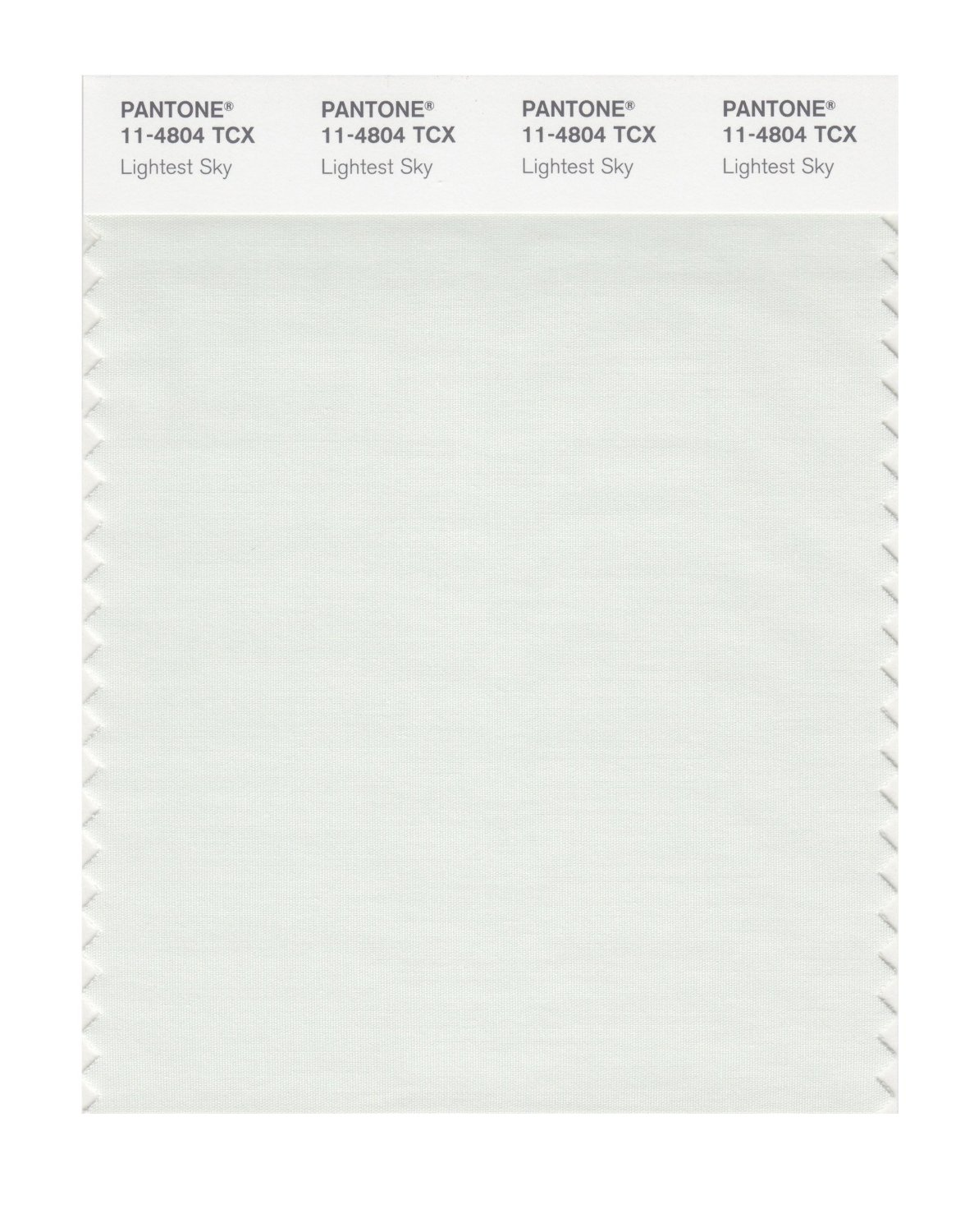 Pantone Smart Swatch 11-4804 Lightest Sky