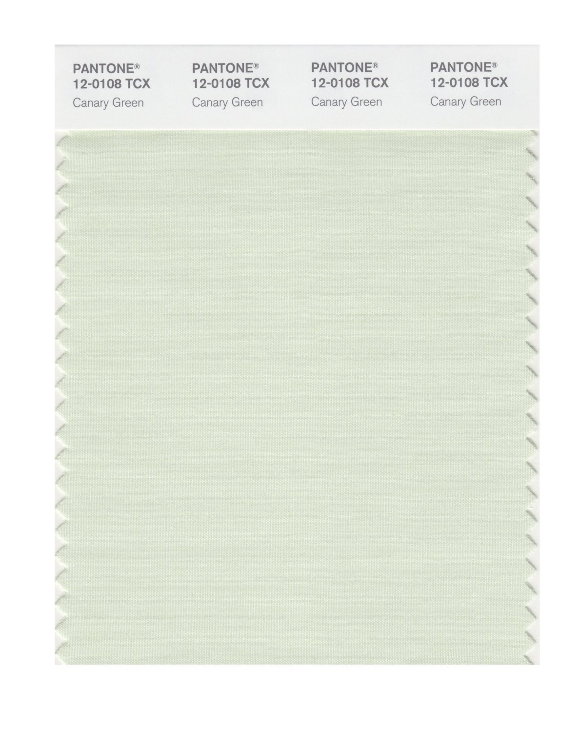 Pantone Smart Swatch 12-0108 Canary Green