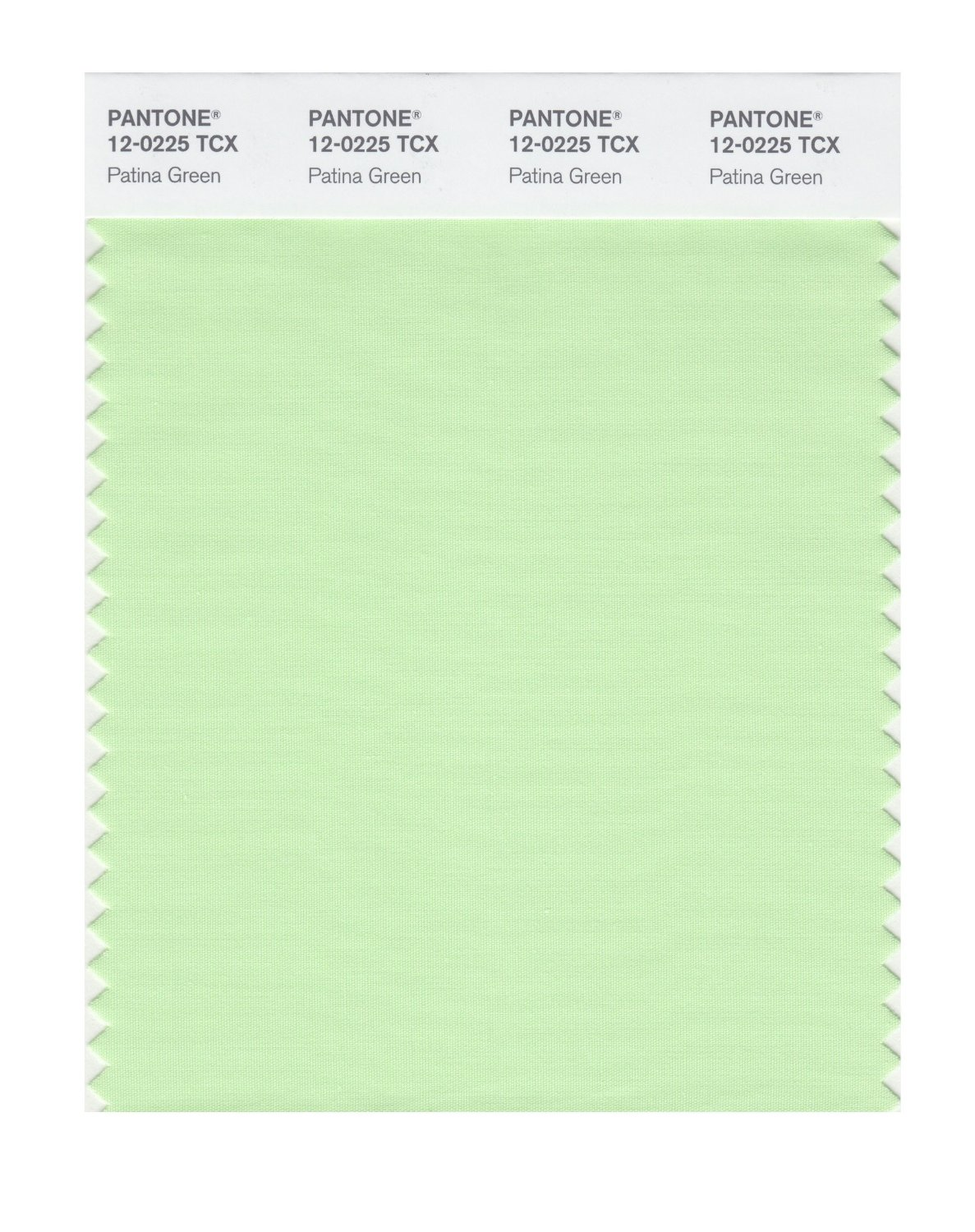 Pantone Smart Swatch 12-0225 Patina Green