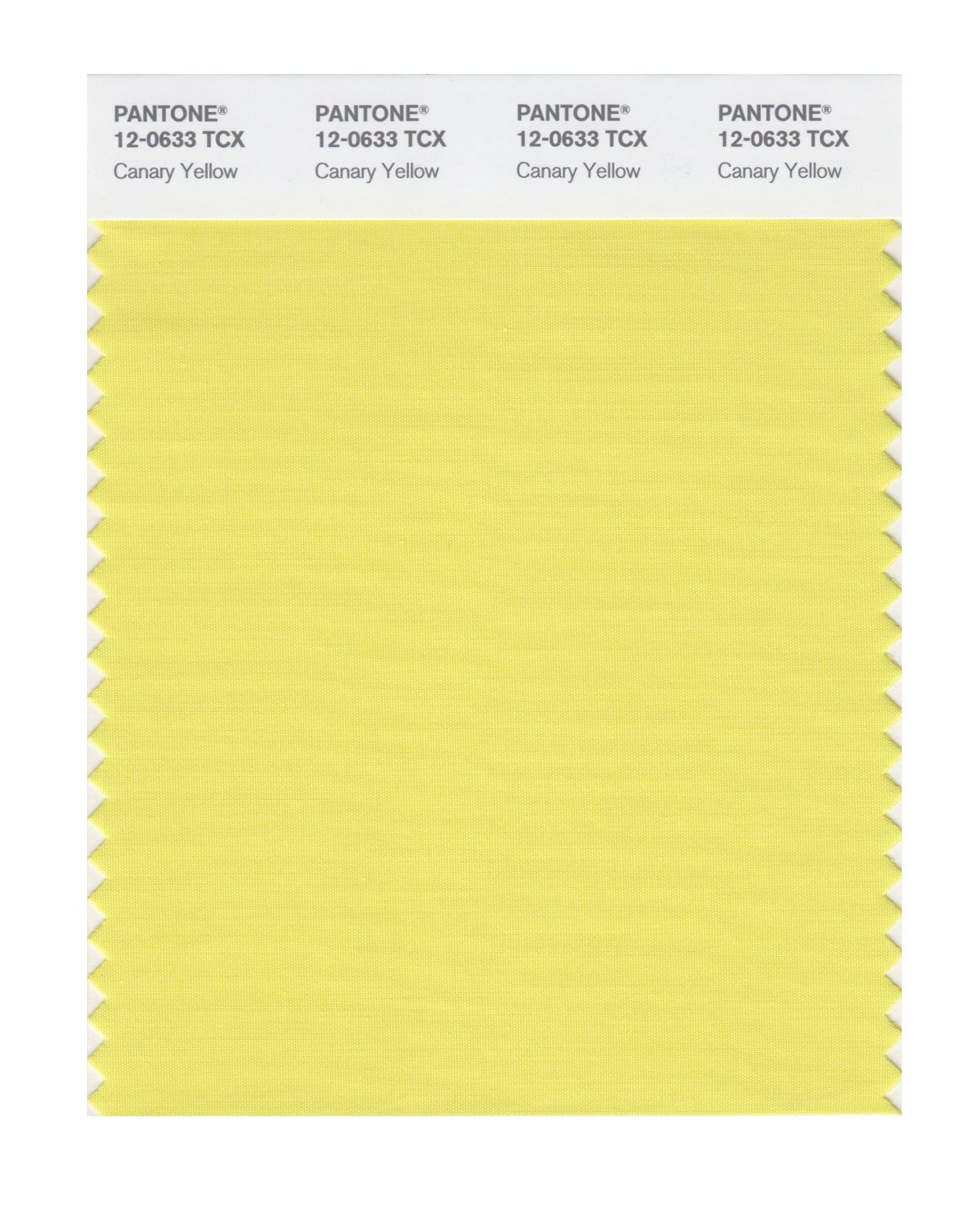 Pantone Smart Swatch 12-0633 Canary Yellow