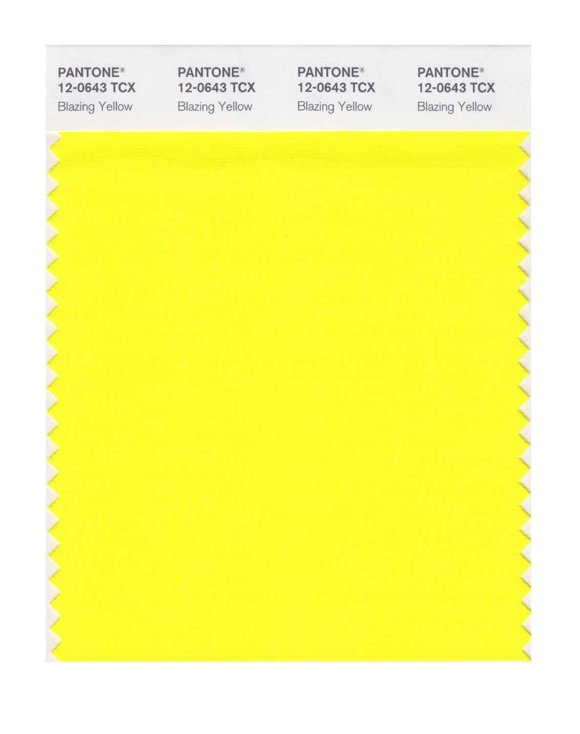 Pantone Smart Swatch 12-0643 Blazing Yellow