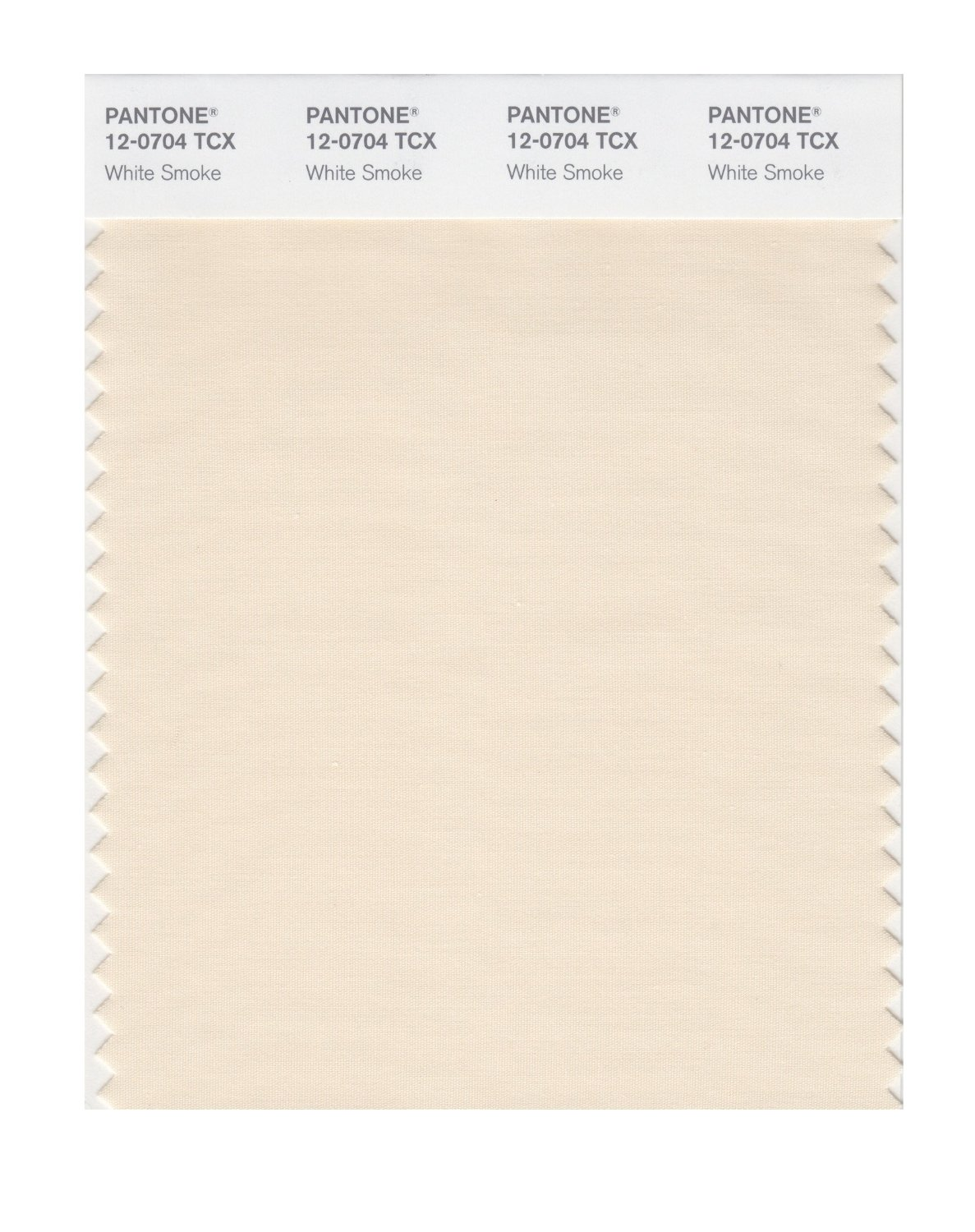 Pantone Smart Swatch 12-0704 White Smoke