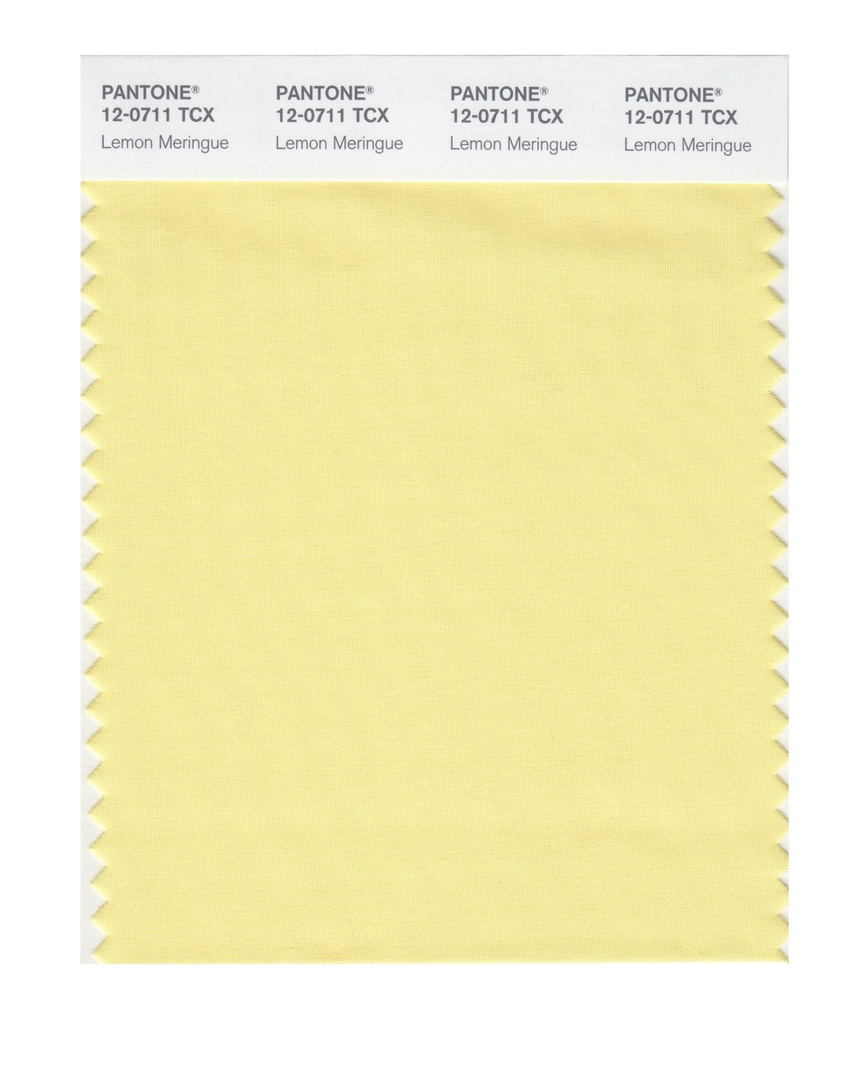 Pantone Smart Swatch 12-0711 Lemon Meringue