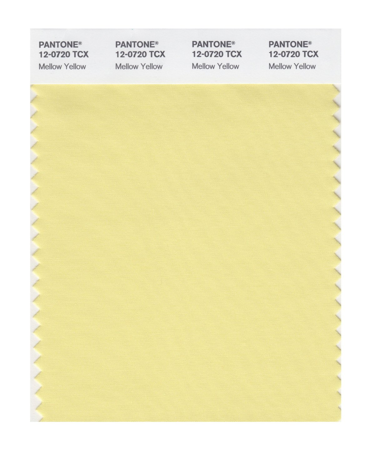 Pantone Smart Swatch 12-0720 Mellow Yellow