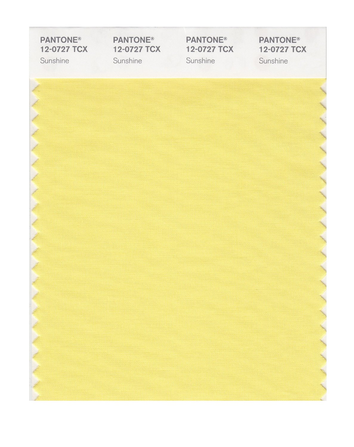Pantone Smart Swatch 12-0727 Sunshine