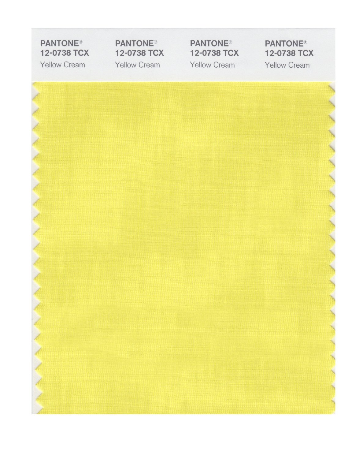 Pantone Smart Swatch 12-0738 Yellow Cream