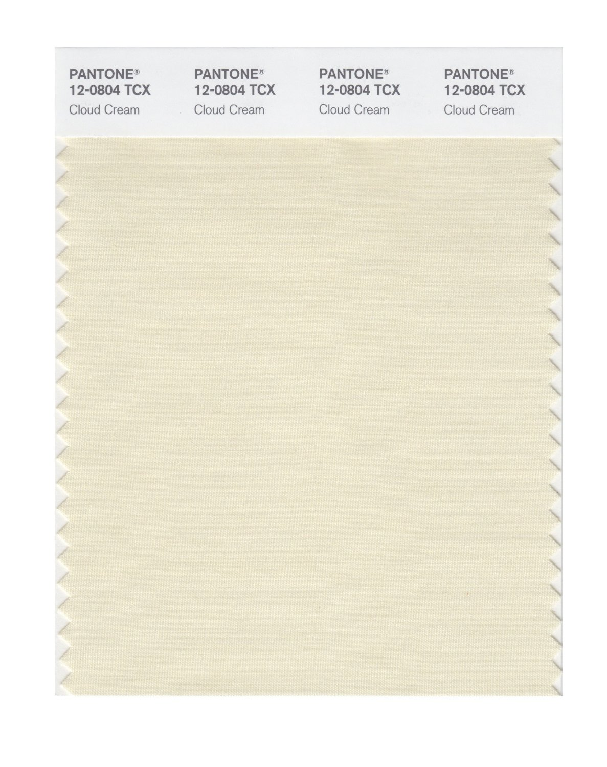 Pantone Smart Swatch 12-0804 Cloud Cream