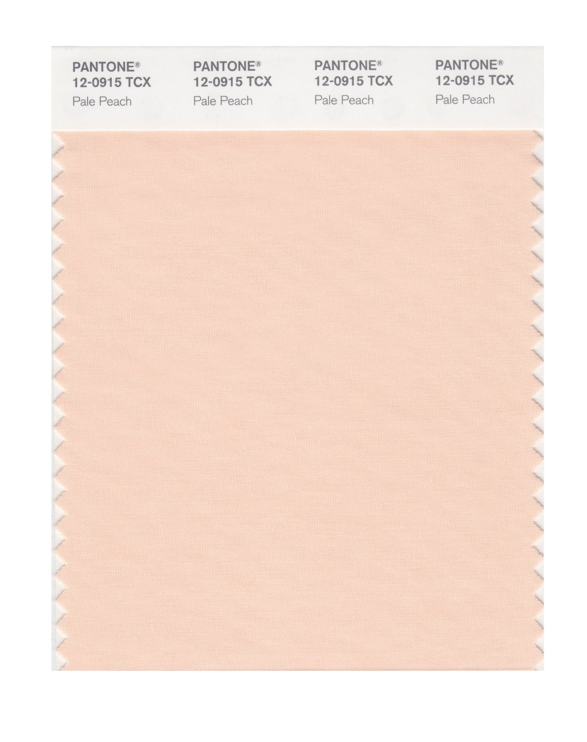 Pantone Smart Swatch 12-0915 Pale Peach