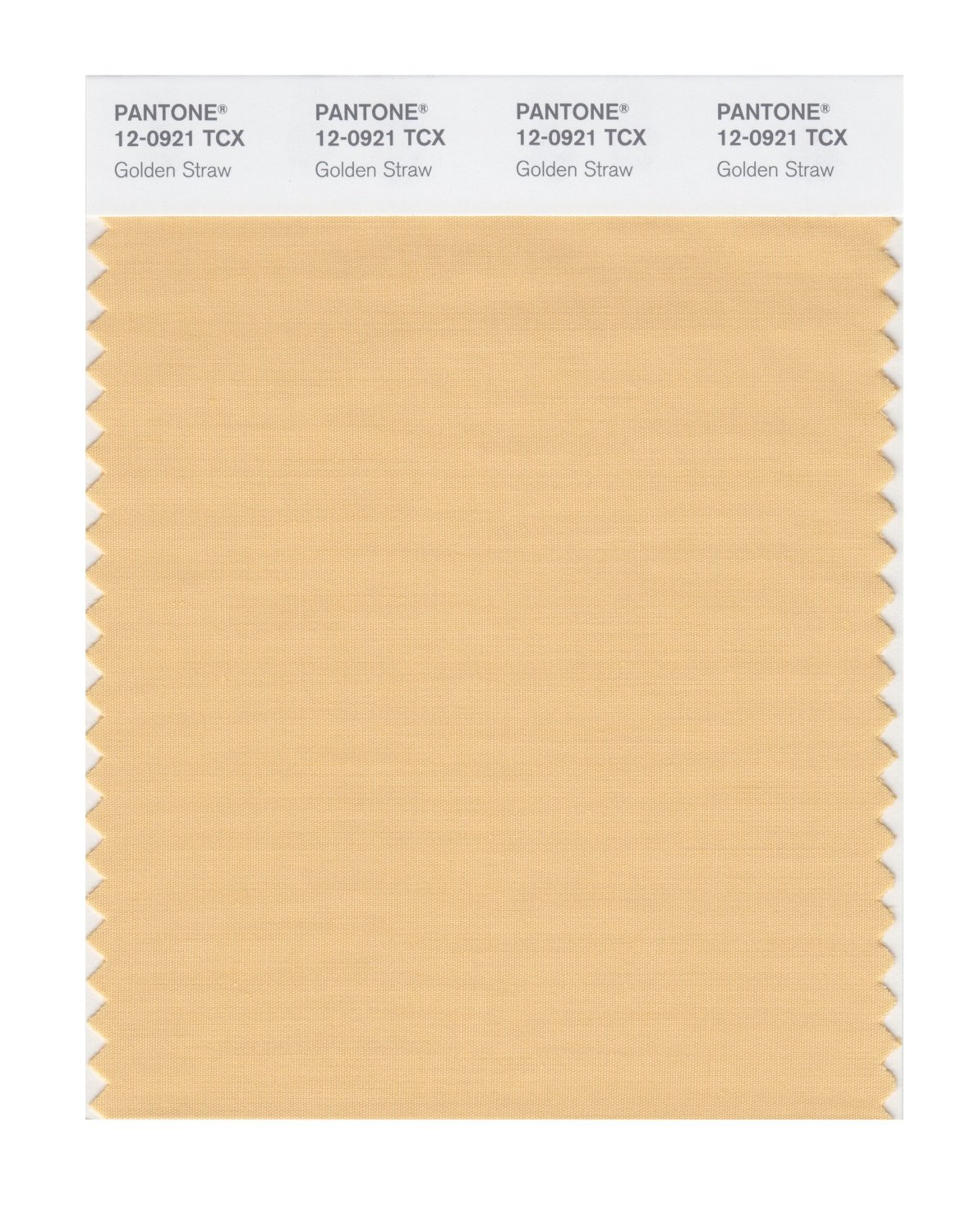 Pantone Smart Swatch 12-0921 Golden Straw