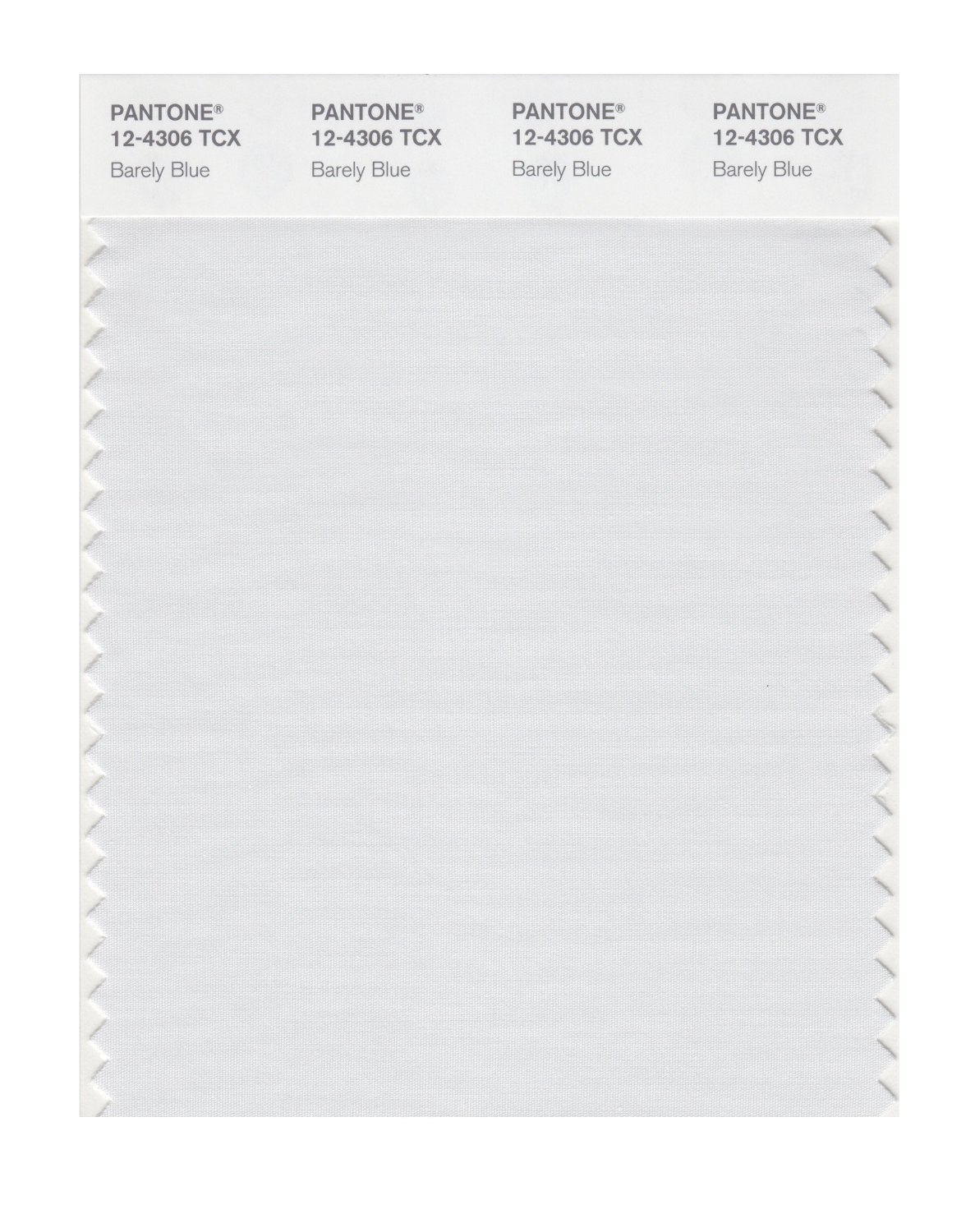 Pantone Smart Swatch 12-4306 Barely Blue