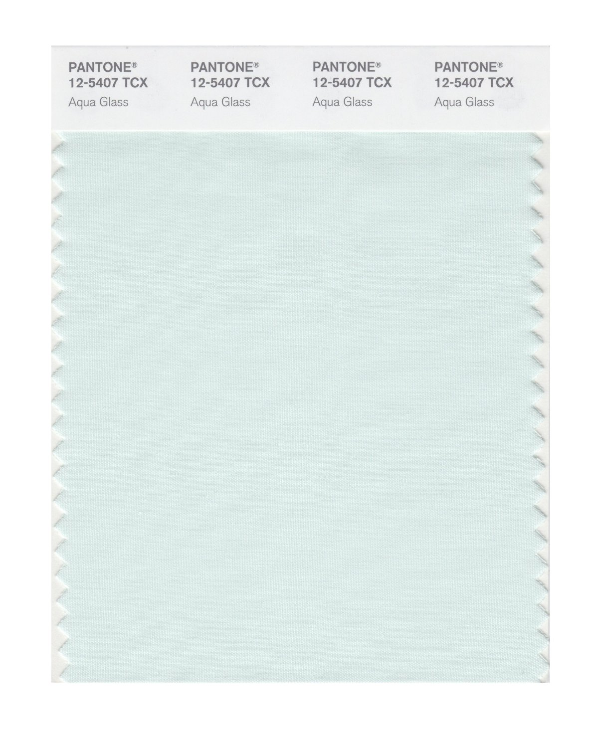 Pantone Smart Swatch 12-5407 Aqua Glass