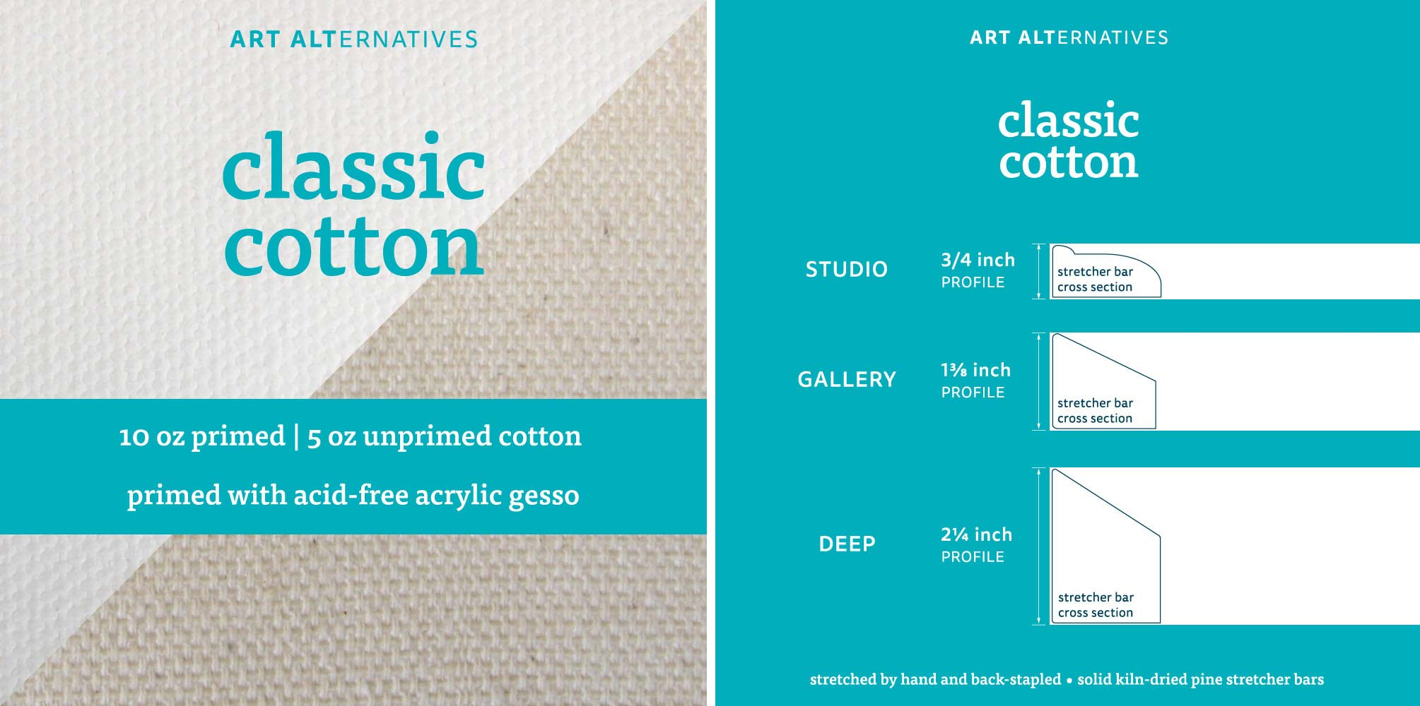 Art Alternatives Classic Studio Canvas