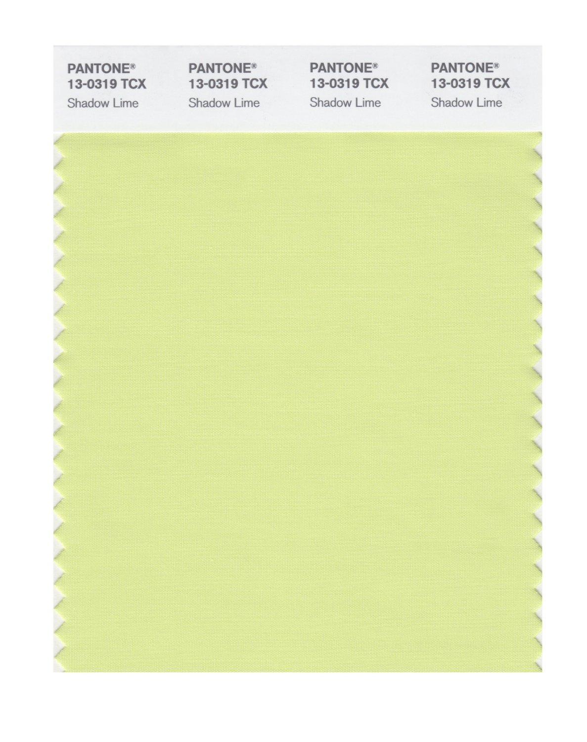Pantone Smart Swatch 13-0319 Shadow Lime