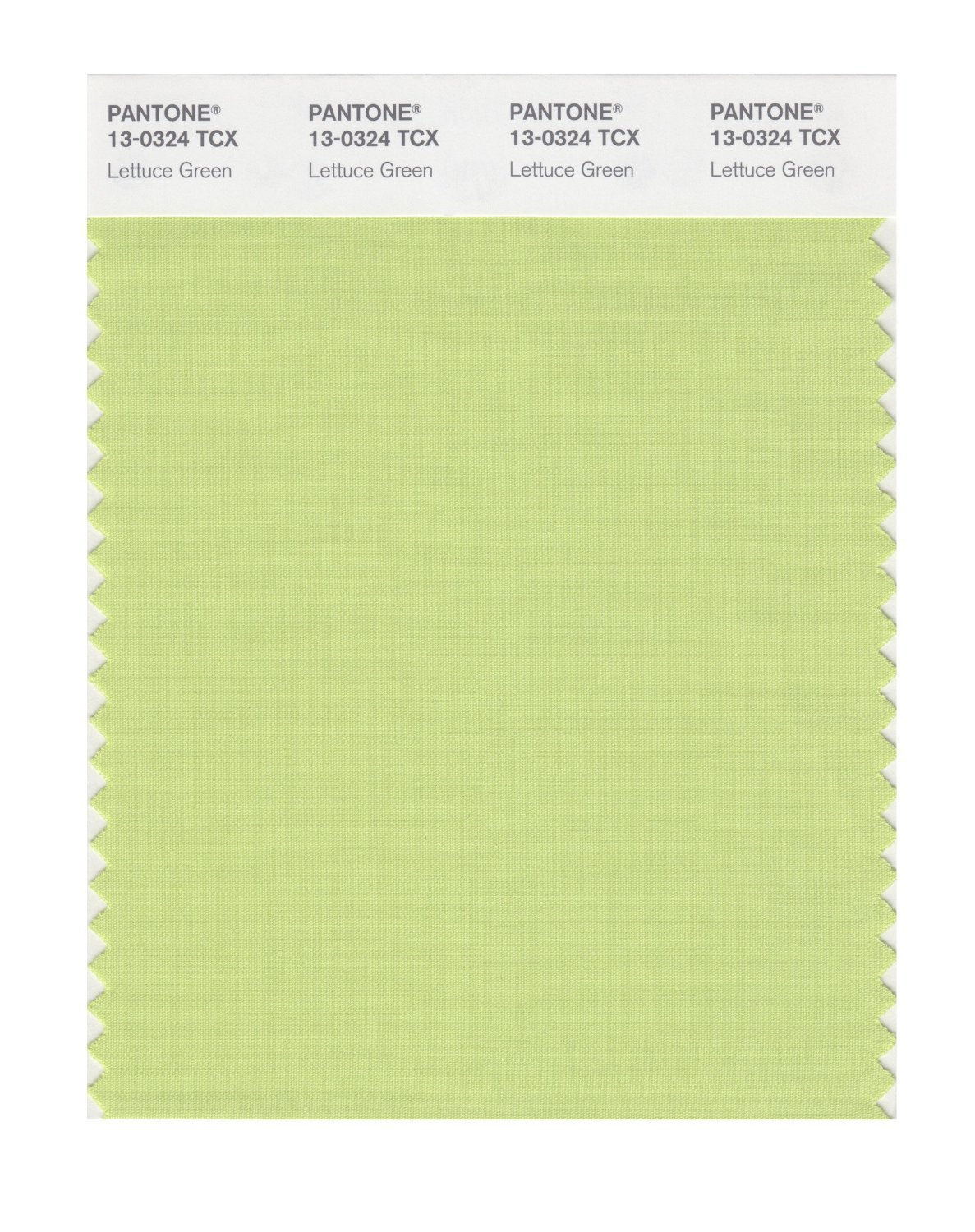 Pantone Smart Swatch 13-0324 Lettuce Green