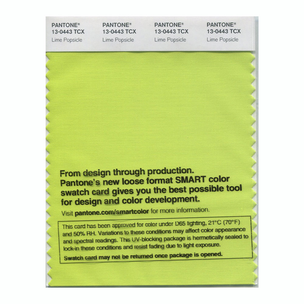 Pantone Smart Swatch 13-0443 Lime Popsicle