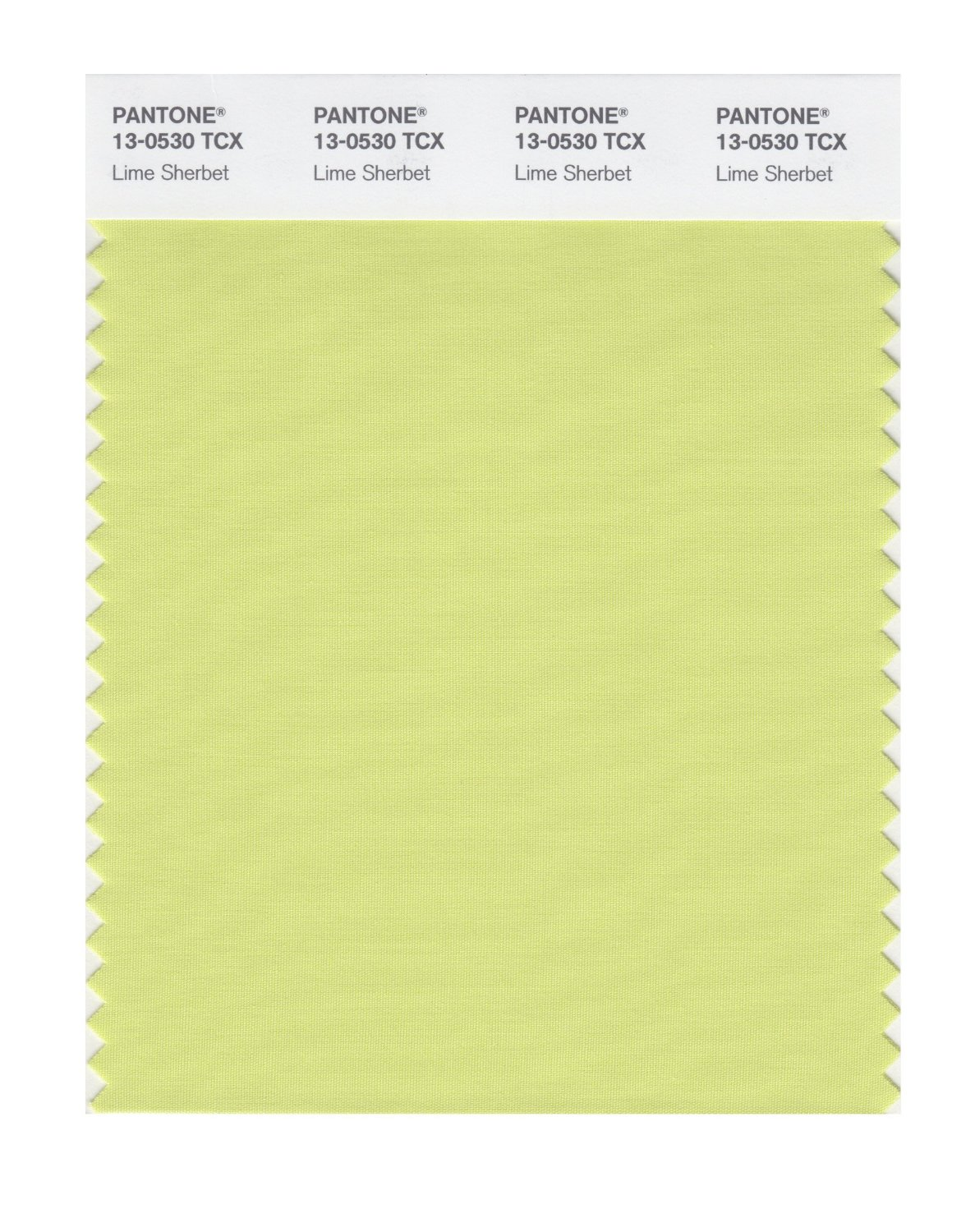 Pantone Smart Swatch 13-0530 Lime Sherbert