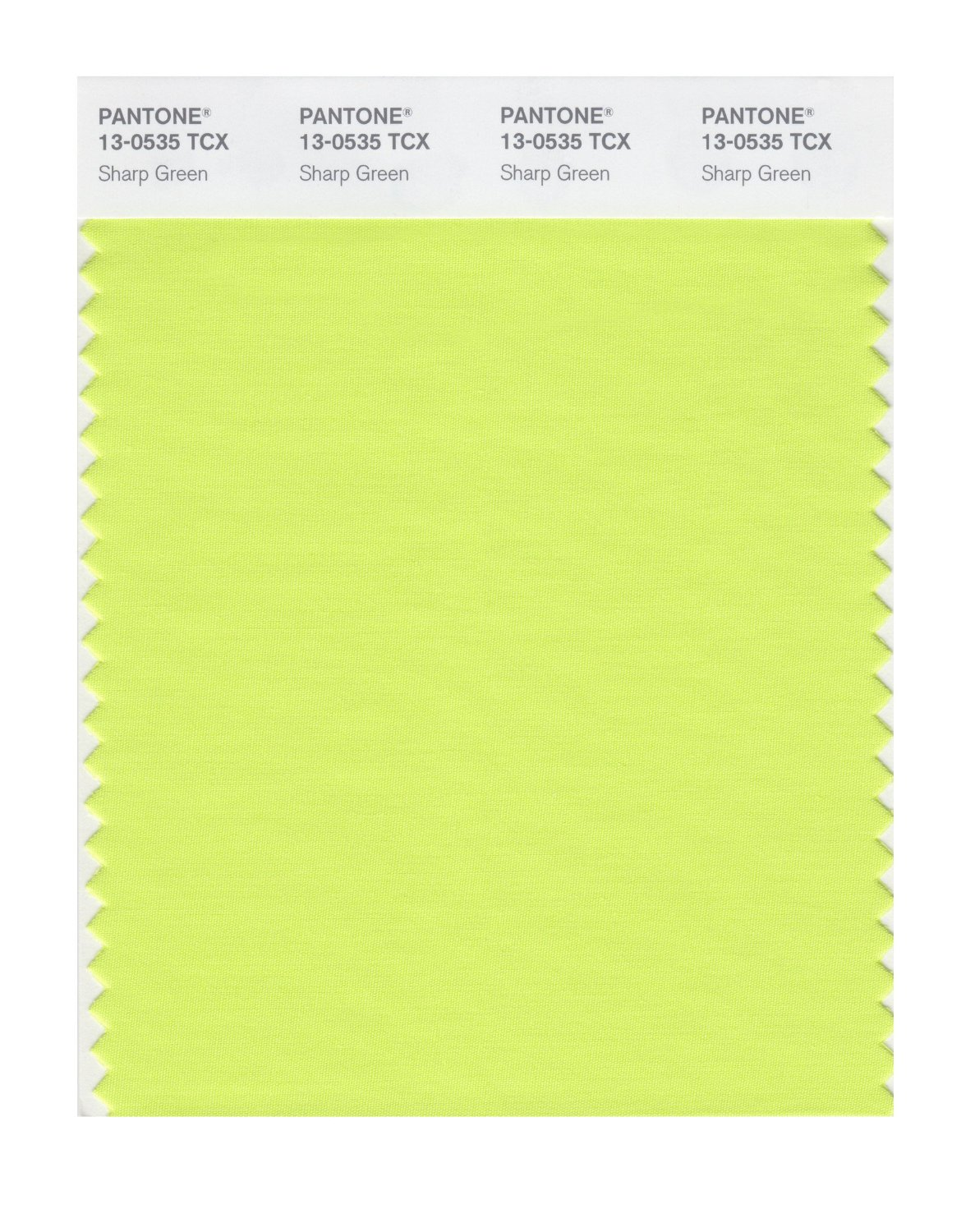 Pantone Smart Swatch 13-0535 Sharp Green