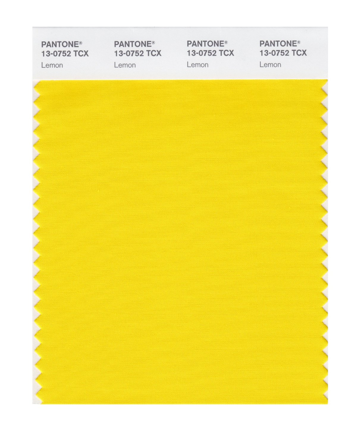 Pantone Smart Swatch 13-0752 Lemon