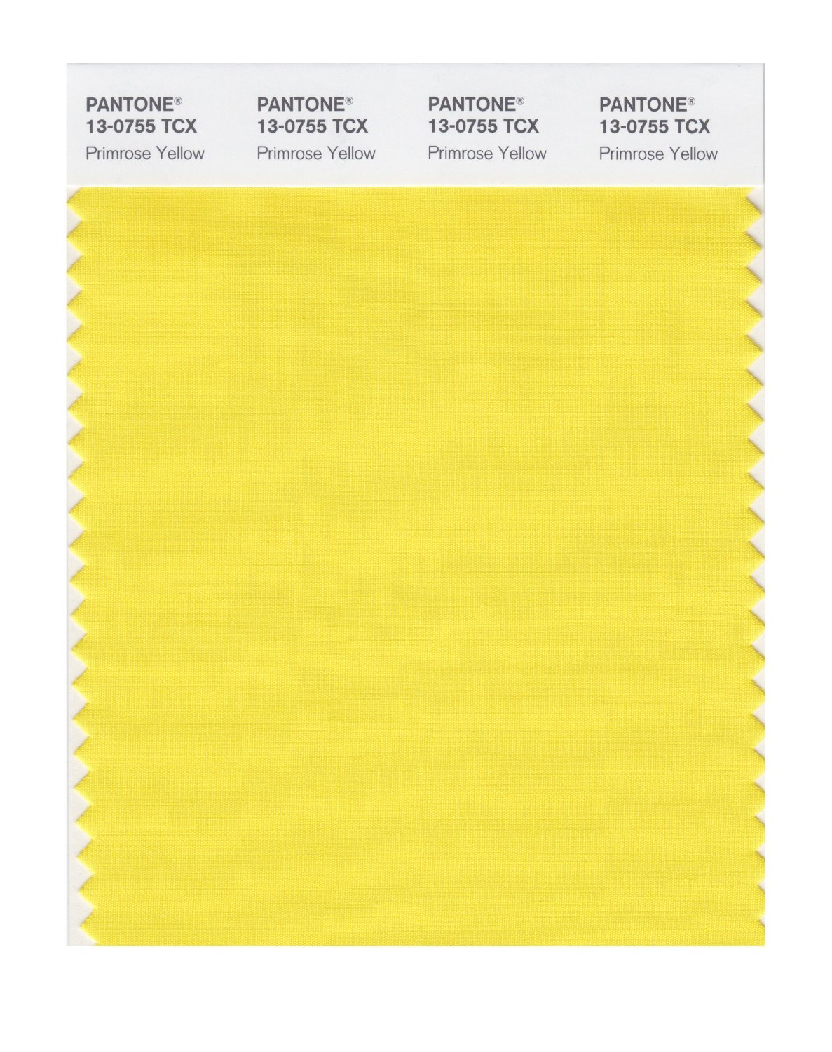 Pantone Smart Swatch 13-0755 Primrose Yellow