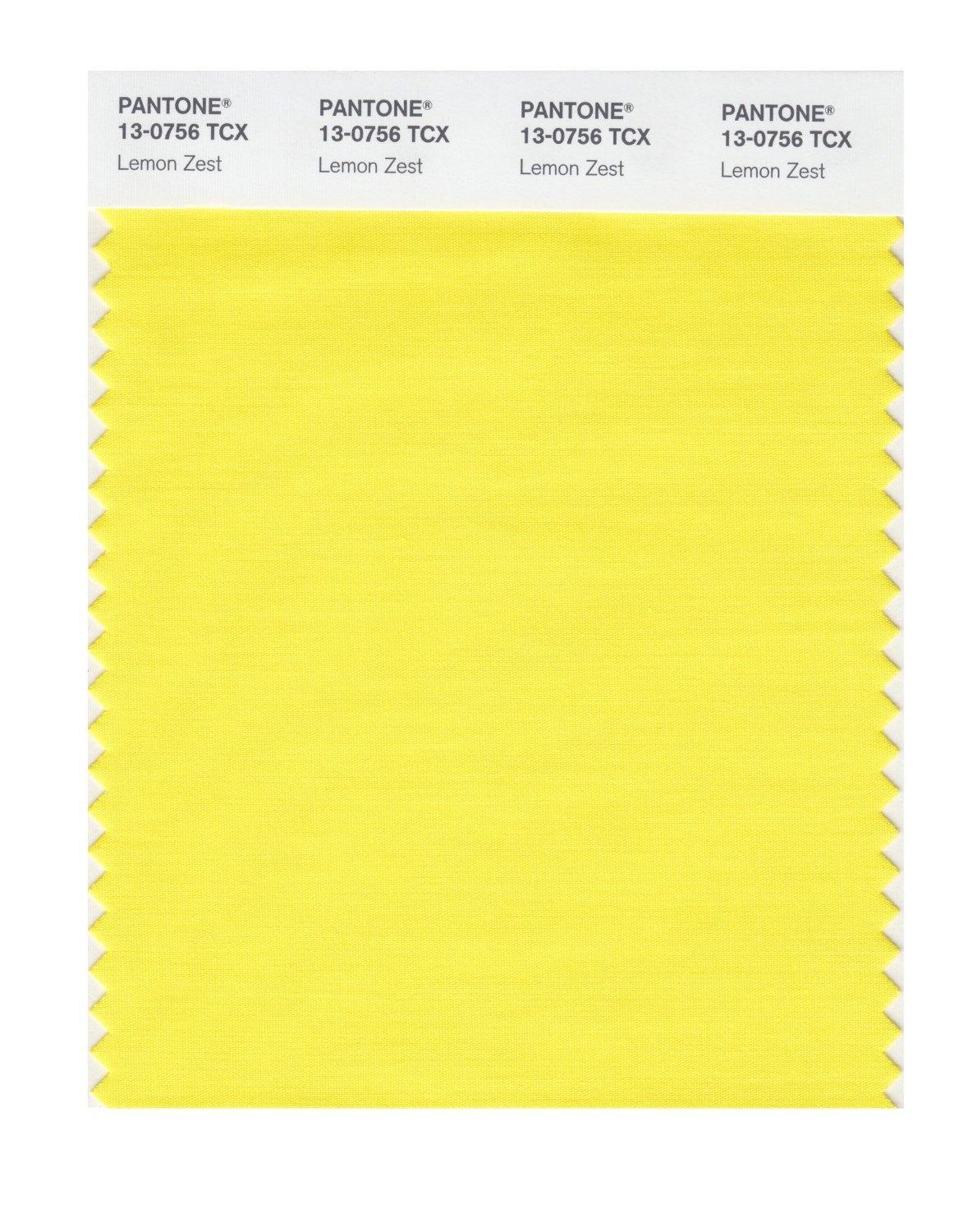 Pantone Smart Swatch 13-0756 Lemon Zest