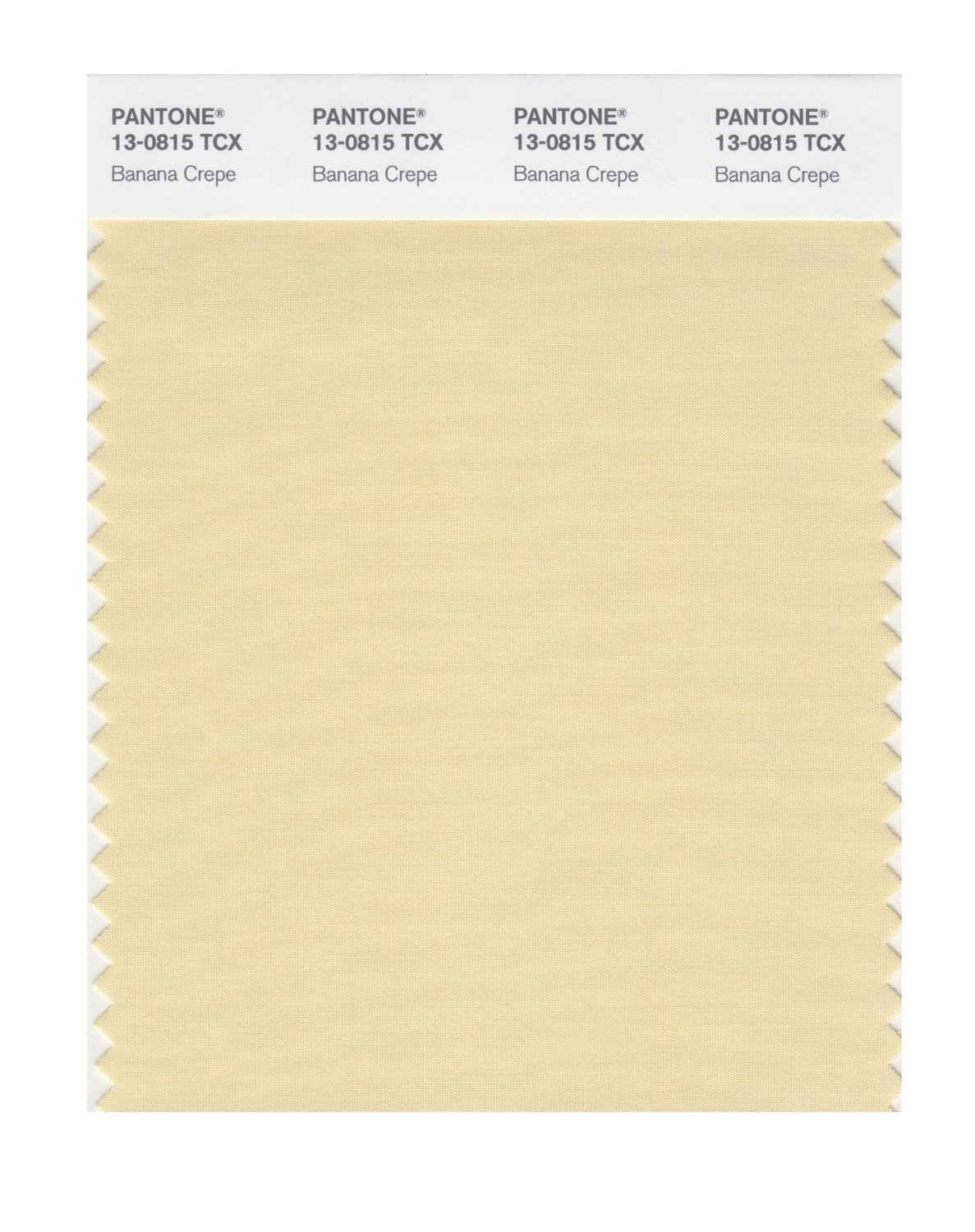 Pantone Smart Swatch 13-0815 Banana Crepe