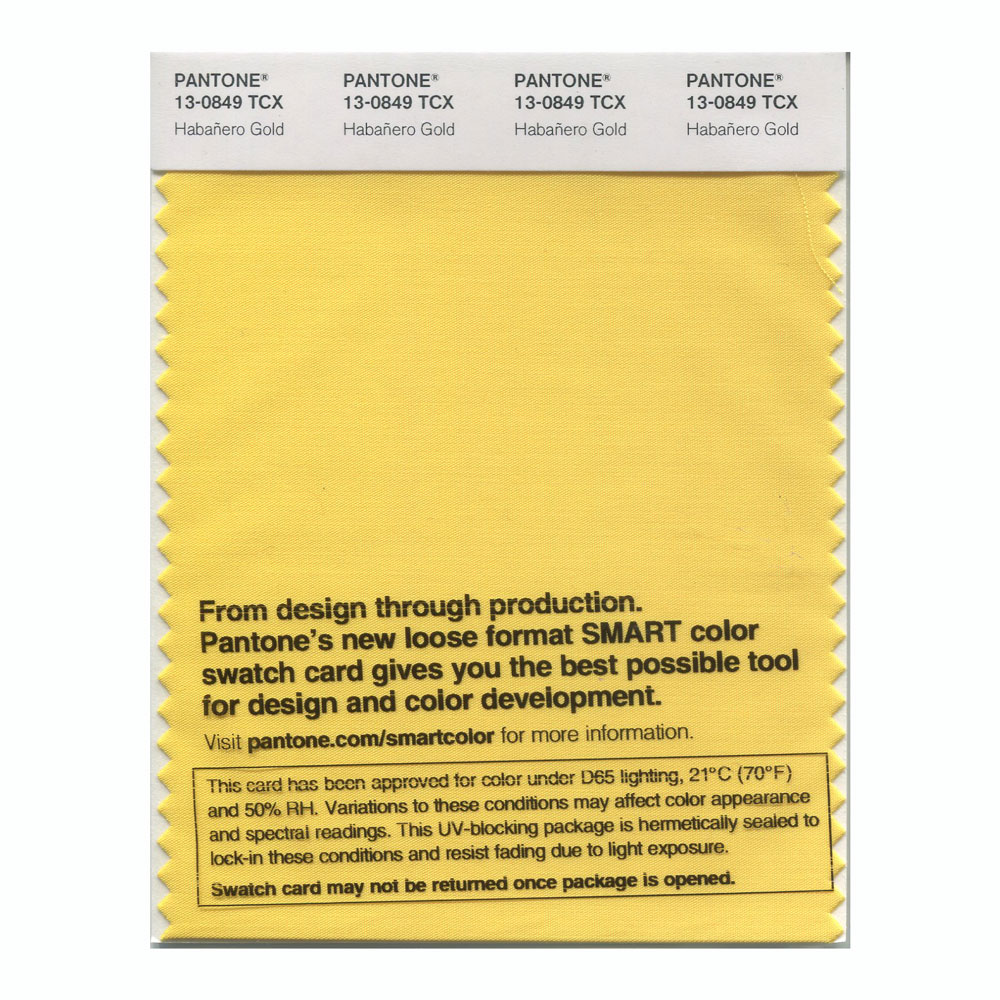 Pantone Smart Swatch 13-0849 Habanero Gold