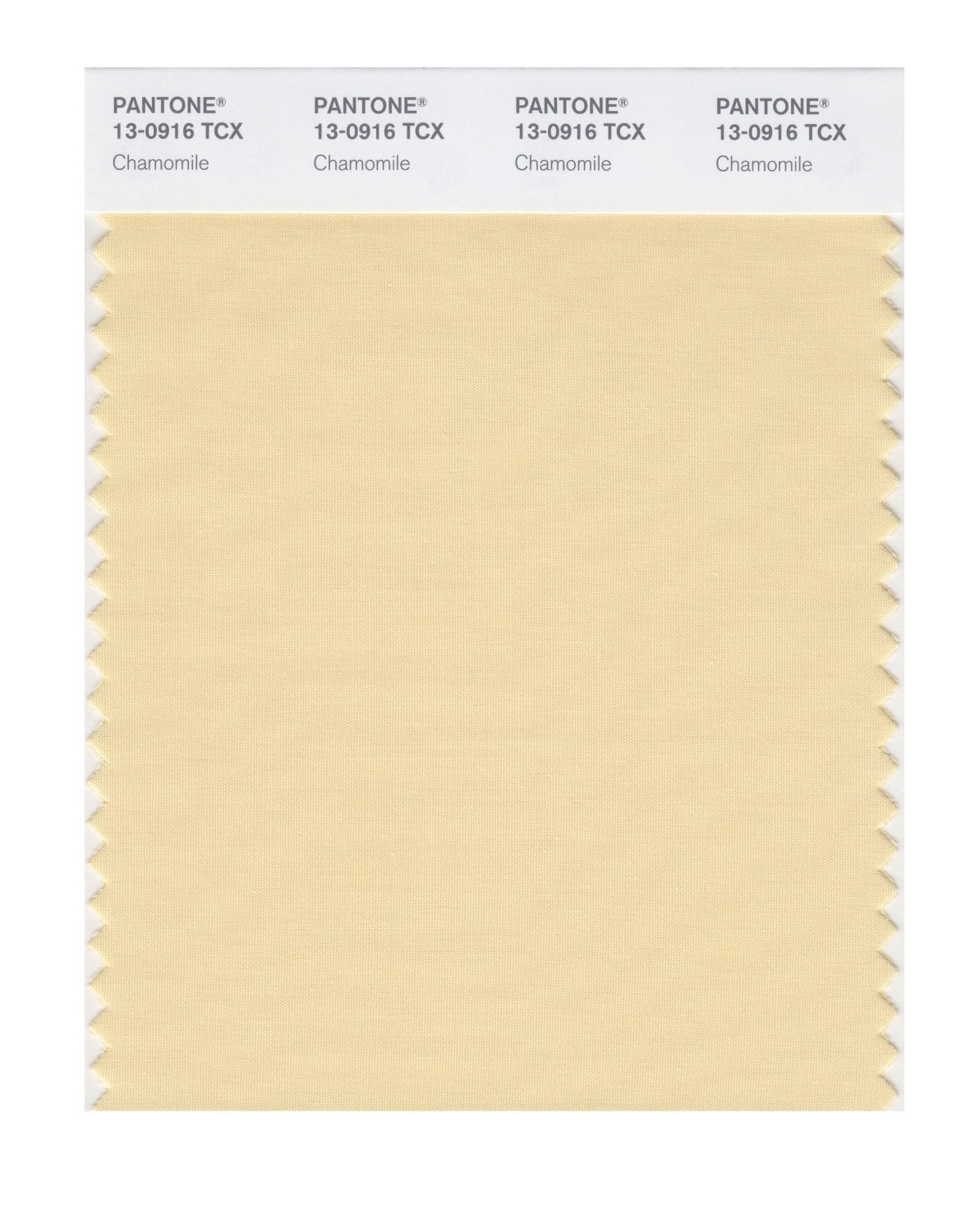 Pantone Smart Swatch 13-0916 Chamomille