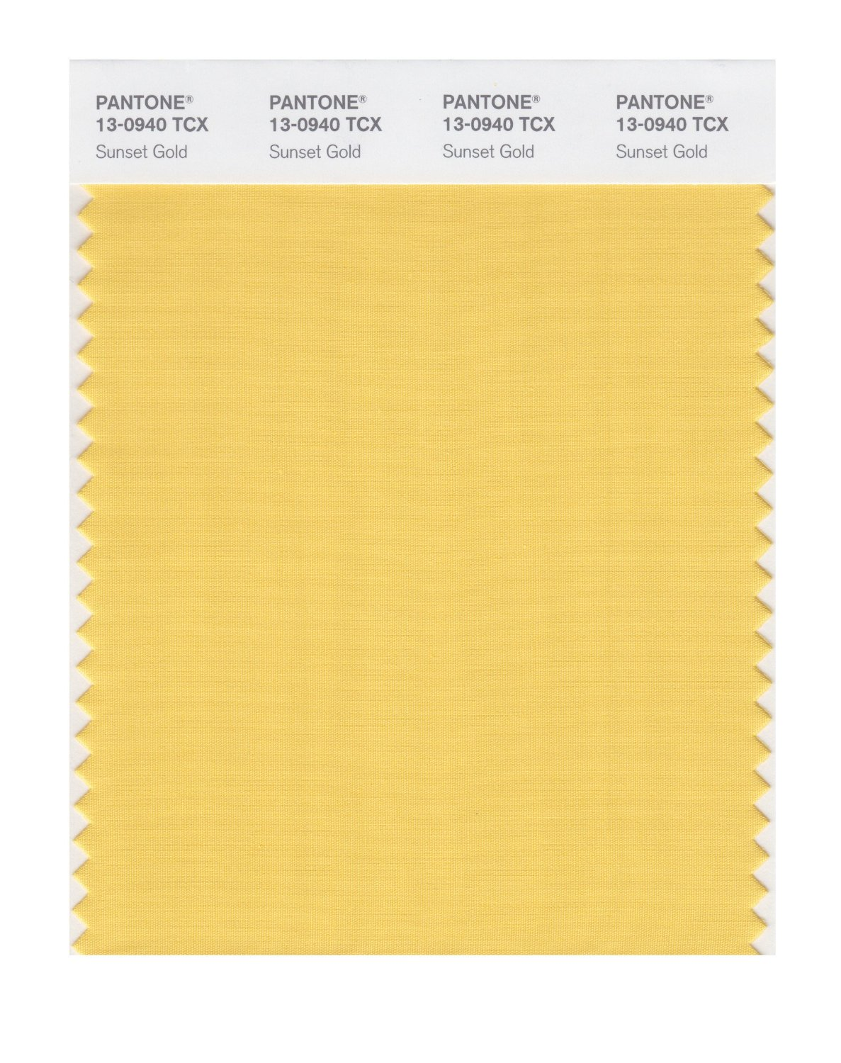 Pantone Smart Swatch 13-0940 Sunset Gold
