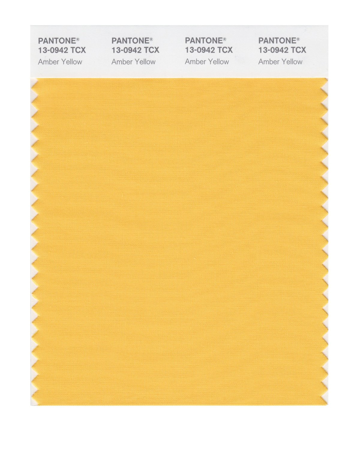 Pantone Smart Swatch 13-0942 Amber Yellow