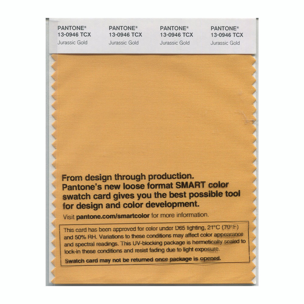 Pantone Smart Swatch 13-0946 Jurasic Gold