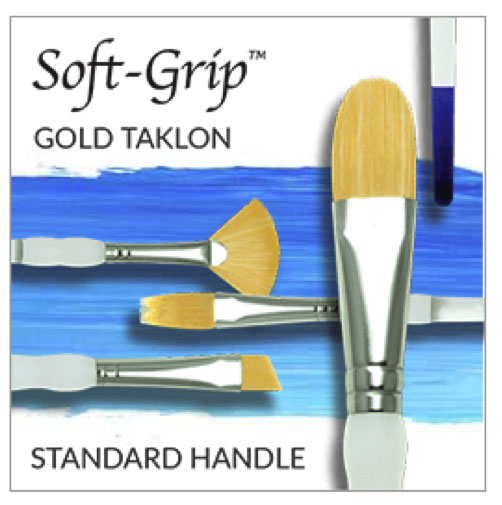 Royal & Langnickel Gold Taklon Brushes