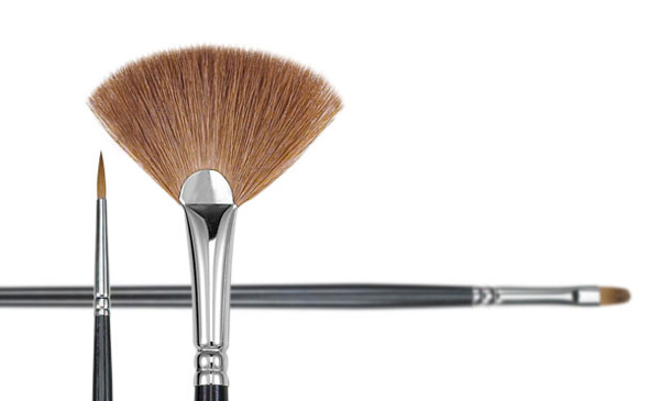 Princeton Natural Red Sable 7400 Series Brushes