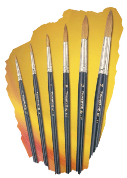 Dynasty Kolinsky Red Sable Brushes