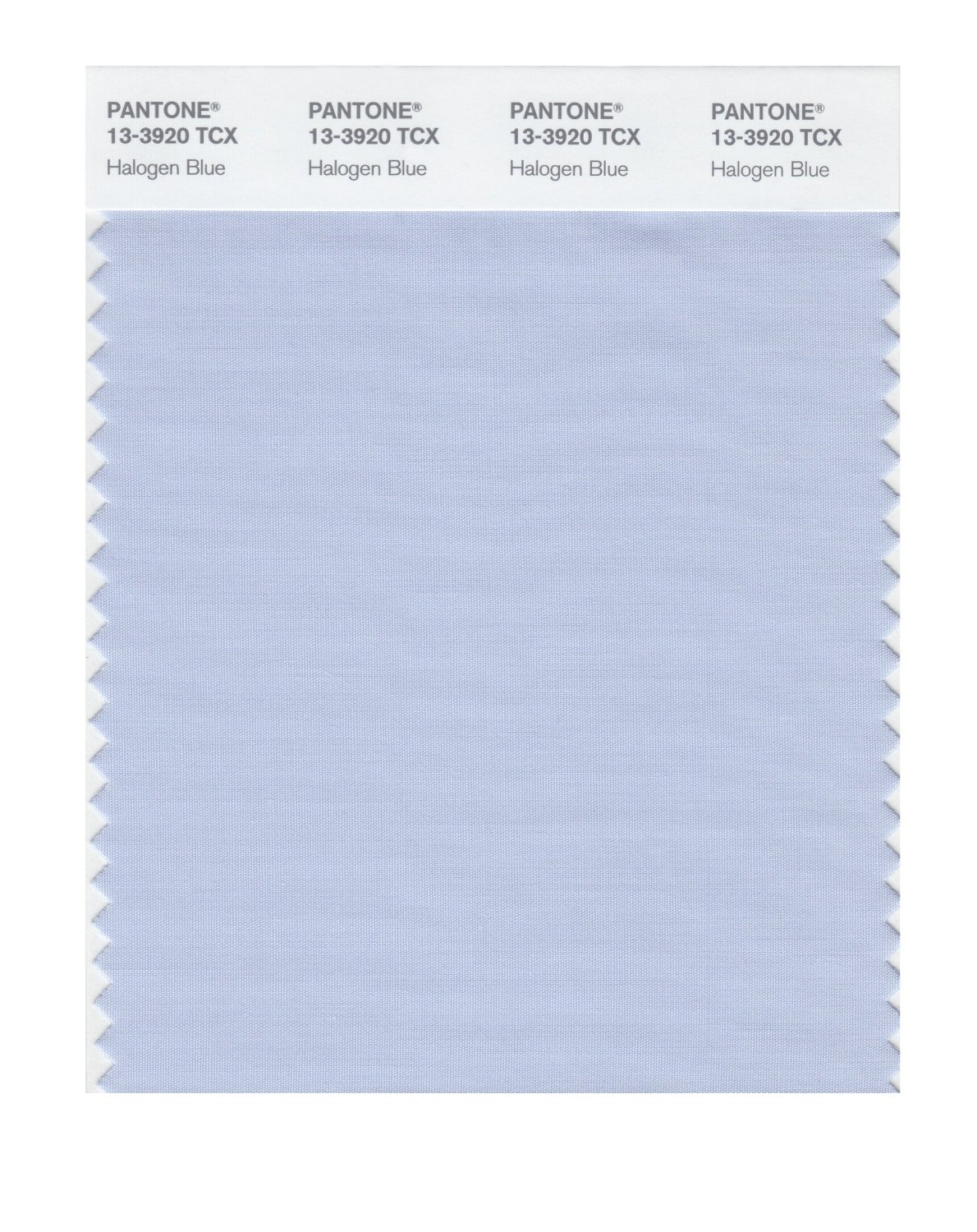 Pantone Smart Swatch 13-3920 Halogen Blue