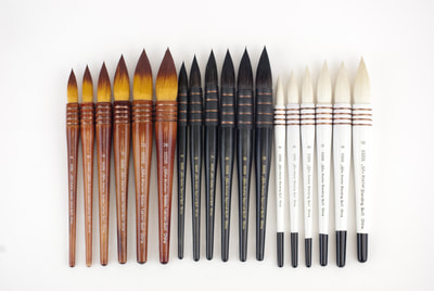 Silver Brush Atelier Quill Series Brushes