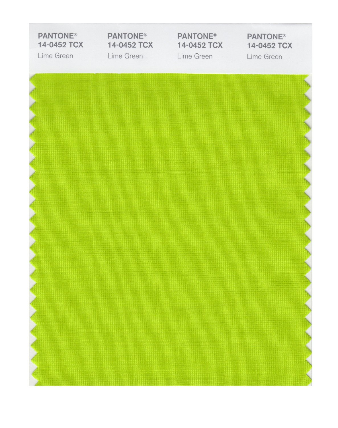 Pantone Smart Swatch 14-0452 Lime Green