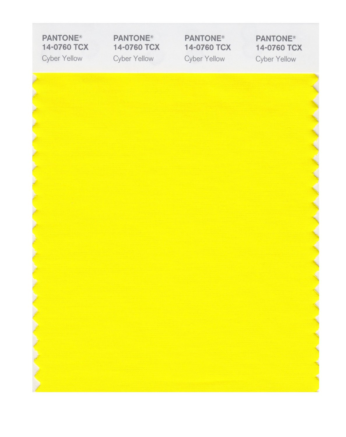 Pantone Smart Swatch 14-0760 Cyber Yellow