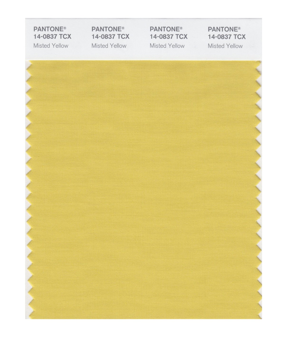 Pantone Smart Swatch 14-0837 Misted Yellow