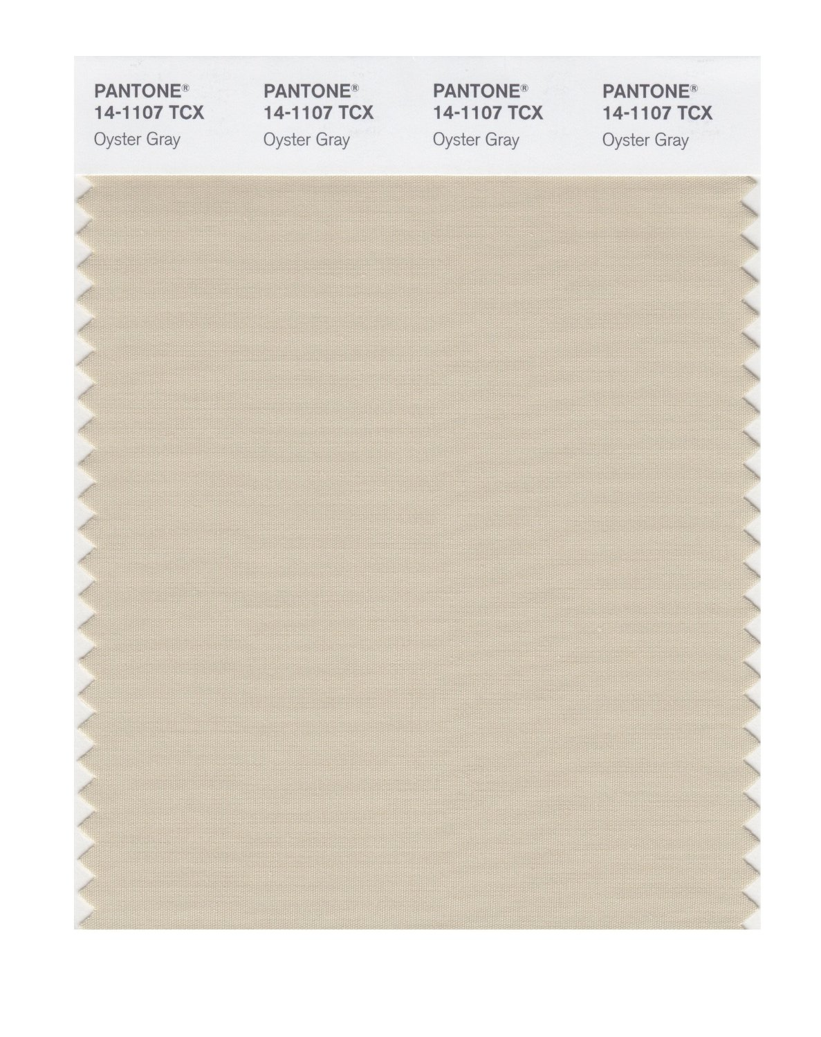 Pantone Smart Swatch 14-1107 Oyster Gray