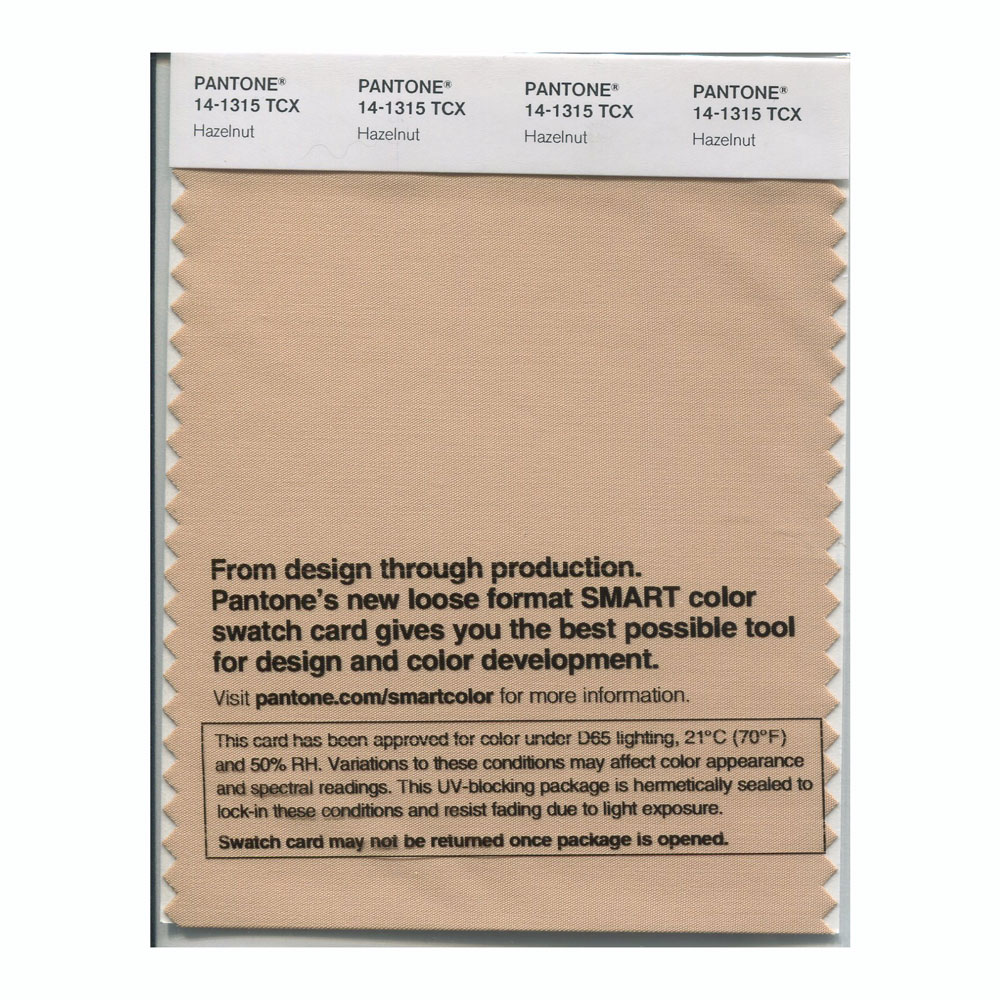 Pantone Smart Swatch 14-1315 Hazelnut