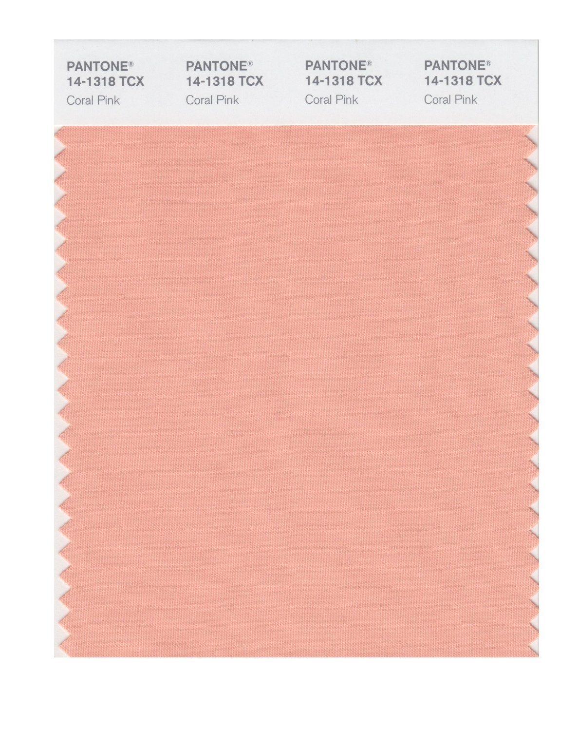Pantone Smart Swatch 14-1318 Coral Pink