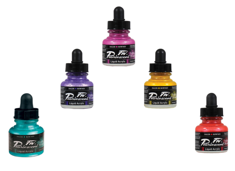 FW Pearlescent Acrylic Inks