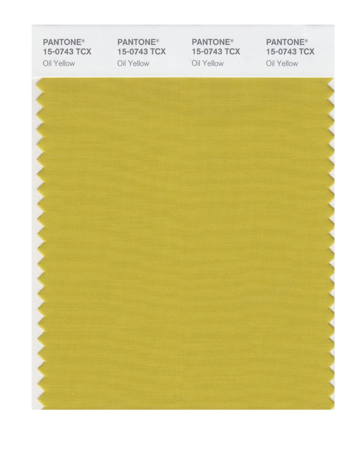 Pantone Smart Swatch 15-0743 Oil Yellow